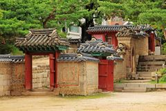 Korea Deoksugung slott Royaltyfri Bild