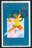 Winter Olympic Games. KOREA DPR - CIRCA 1978: stamp printed by Korea DPR, shows Winter Olympic Games, Sapporo-Innsbruck, Ice ballet, circa 1978 Royalty Free Stock Image