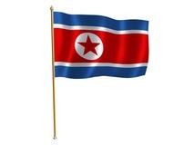 Korea DPR silk flag. Silk flag of Korea DPR Royalty Free Stock Image