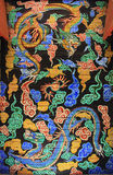 Korea Dragon Painting. Korea Traditional Dragon Painting On the Wall stock photos