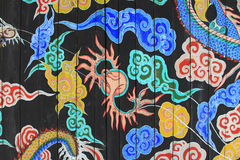 Korea Dragon Painting. Korea Traditional Dragon Painting On the Wall royalty free stock photography