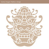 Korea Dragon Pattern Design. Korean traditional Pattern Design S Stock Photography