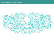 Korea Dragon Pattern Design Koreanischer traditioneller Muster-Entwurf S Lizenzfreies Stockfoto