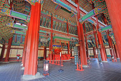 Korea Emperor Seat Gyeongbokgung Palace Royalty Free Stock Photography