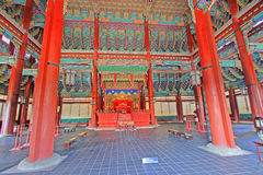 Korea Emperor Seat Gyeongbokgung Palace Royalty Free Stock Photos