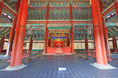 Korea Emperor Seat Gyeongbokgung Palace Royalty Free Stock Images