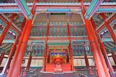 Korea Emperor Seat Gyeongbokgung Palace Royalty Free Stock Photos