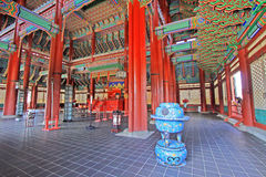 Korea Emperor Seat Gyeongbokgung Palace Royalty Free Stock Photo