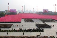 korea för 65th årsdag arbets- norr deltagare Royaltyfri Bild