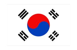 Korea flag. An illustration of korea flag