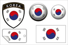 Korea flag Stock Images