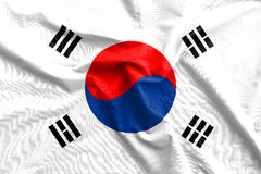 Korea flag cotton texture Stock Photos