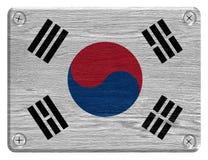 Korea flag royalty free illustration