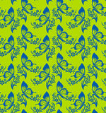 Korea flower and butterfly pattern Design. Korean traditional Pa Royalty Free Stock Photos