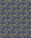 Korea flower and butterfly pattern Design. Korean traditional Pa Stock Photos