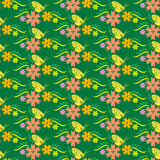 Korea flower and butterfly pattern Design. Korean traditional Pa Stock Images
