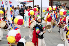 Korea folk dance Royalty Free Stock Photos