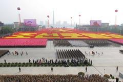 korea för 65th årsdag arbets- norr deltagare Royaltyfria Foton
