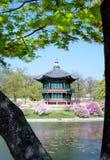 korea gammal pavillion seoul Arkivfoton