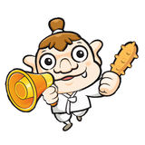 Korea goblin Mascot the hand is holding a loudspeaker. Korea Tra Royalty Free Stock Photography