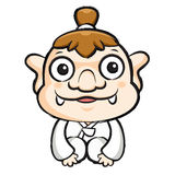 Korea goblin Mascot is a polite greeting. Korea Traditional Cult Royalty Free Stock Image