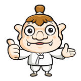 Korea goblin mascot the right hand guides and the left hand best Royalty Free Stock Photography