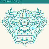 Korea Goblin Pattern Design. Korean traditional Design Series. Royalty Free Stock Image