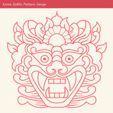 Korea Goblin Pattern Design. Korean traditional Design Series. Royalty Free Stock Images