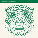 Korea Goblin Pattern Design. Korean traditional Design Series. Stock Image
