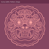 Korea Goblin Pattern Design. Korean traditional Design Series. Stock Photo