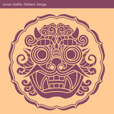 Korea Goblin Pattern Design. Korean traditional Design Series. Royalty Free Stock Photos