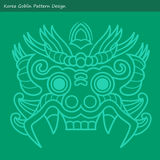 Korea Goblin Pattern Design. Korean traditional Design Series. Royalty Free Stock Photography