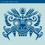 Korea Goblin Pattern Design. Korean traditional Design Series. Royalty Free Stock Photo