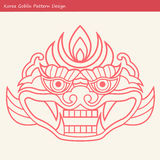 Korea Goblin Pattern Design. Korean traditional Design Series. Stock Images