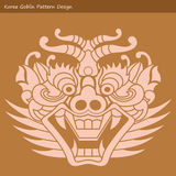 Korea Goblin Pattern Design. Korean traditional Design Series. Stock Photography