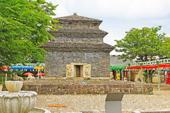 Korea Gyeongju Bunhwangsa Temple. Bunhwangsa Temple was built during the year 634 and the third year of Queen Seondeok`s rule, the 27th ruler of the Silla royalty free stock images