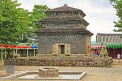 Korea Gyeongju Bunhwangsa Temple. Bunhwangsa Temple was built during the year 634 and the third year of Queen Seondeok`s rule, the 27th ruler of the Silla royalty free stock photos