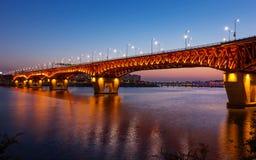 Korea Han River, bro Royaltyfri Fotografi