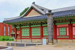 Korea Hwaseong Haenggung slott Arkivbilder