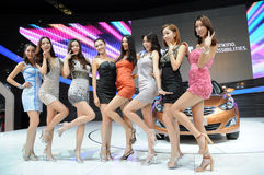 Korea Hyundai motor show  girls Royalty Free Stock Photography