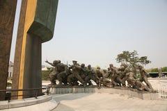 korea kriger minnes- skulptur Royaltyfria Foton