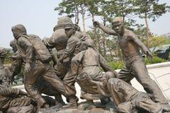 korea kriger minnes- skulptur Royaltyfri Foto