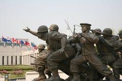 korea kriger minnes- skulptur Arkivfoton