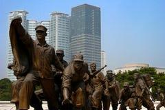 korea kriger minnes- skulptur Arkivfoto