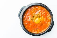 Korea kryddig soppa Arkivfoto