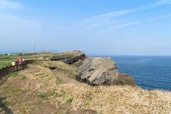 , Korea, Kwiecień - 11, 2015: Olle Żadny 10 kurs w Songaksan obraz stock