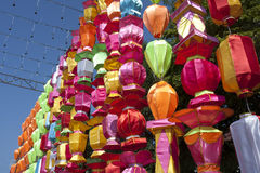 Korea lanterns Royalty Free Stock Images