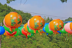 Korea Lotus Lantern Stock Photo