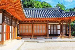 Korea ludu Tradycyjny dom Obrazy Royalty Free