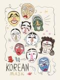 Korea maskuje kolekcję royalty ilustracja